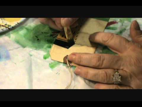 Starla's Candle Making - How to paint primitive salt box houses.