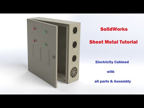 SolidWorks Tutorial | Sheet metal design (Electric Panel all