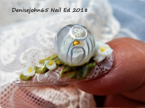 How to make  4 D Flowers --- Sculpting 4 D Flowers on a Bubble Rose --- Denisejohn10 10% Off Missu