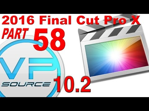 58. How to FREEZE FRAME Final Cut Pro X 10.2.3 (2016)