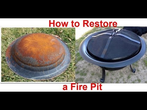How to restore a rusty Fire Pit