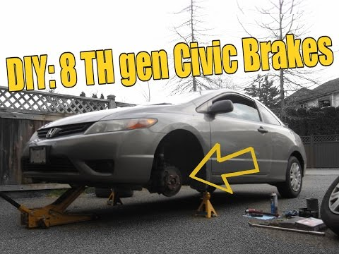 HOW TO 2006-2011 Honda Civic FRONT Brakes