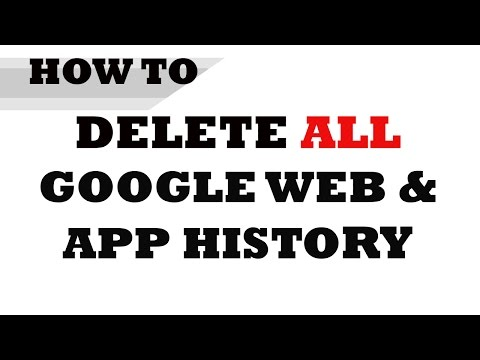 How To Delete All Google Web Search History