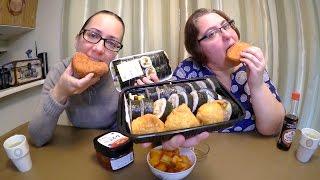 Download Korean Kimbap, Inarizushi And Curry Bun | Gay Family Mukbang (먹방) - Eating Show Video