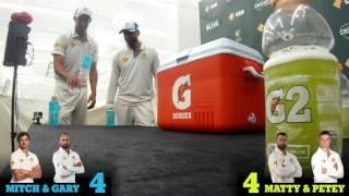 Aussie stars in Intense bottle-flip challenge