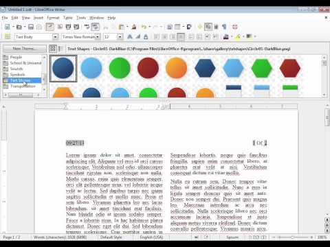 LibreOffice Writer: Adding clip-art and images