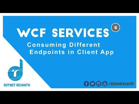 Consuming Different Endpoints in WCF Client Application || Part-6