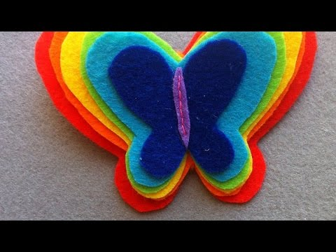How To Make A Rainbow Felt Butterfly Hair Band - DIY Style Tutorial - Guidecentral