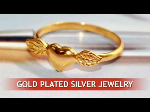 Gold plated sterling silver jewelry.