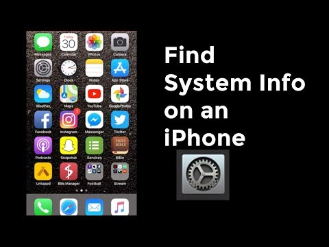 How to Find System Info on iPhone