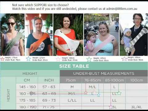 How to choose your correct size SUPPORi Baby Sling