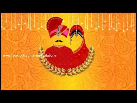 Rajasthani Style Whatsapp Wedding Invitation