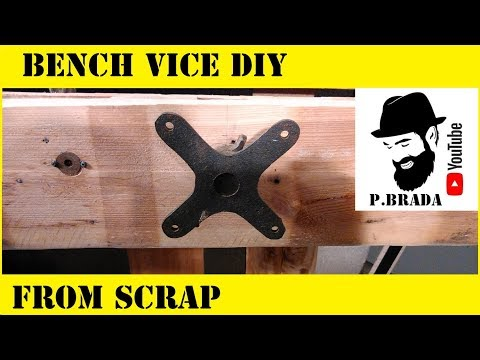 Bench vice DIY from scrap
