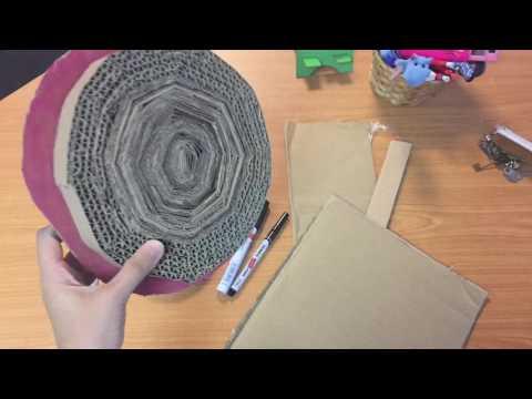 DIY cat scratch from cardboard