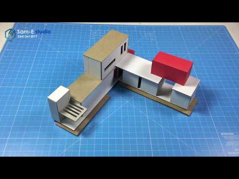 MODEL MAKING OF MODERN ARCHITECTURAL contemporaneity Design