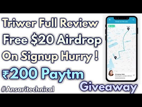 Triwer Review | Free $20 Tokens | Free Rs.200 Paytm Giveaway !