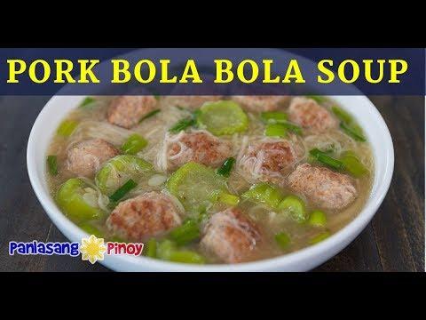 Pork Bola Bola Soup with Misua and Patola