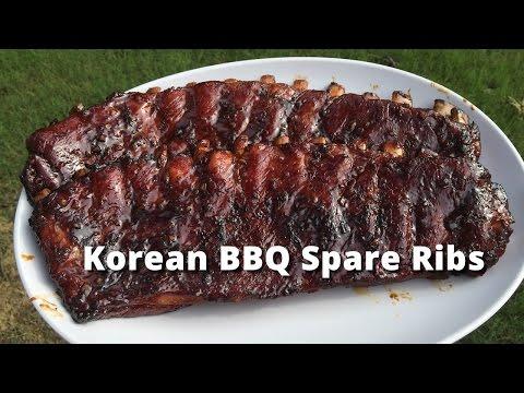 Korean Style Spare Ribs | Spare Ribs Korean Style on Big Green Egg Malcom Reed HowToBBQRight
