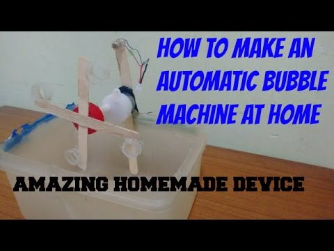 How to make a automatic bubble machine at home. [AMAZING DEVICE]