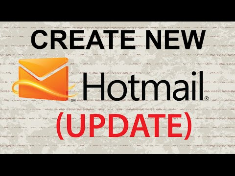 Create New Hotmail Account (UPDATE)