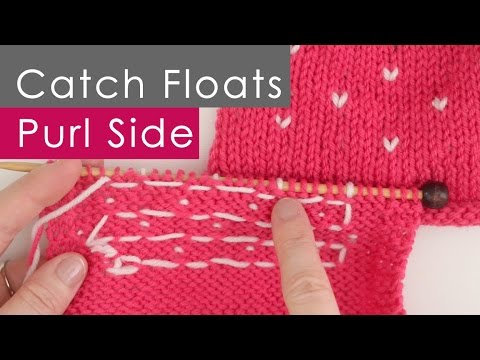 Catch Floats: Purling on Wrong Side in Colorwork Stranded Knitting