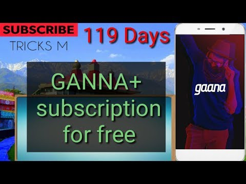 [Latest] Gaana+ subscription free for 119 days.