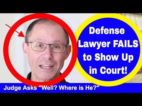 Defense Lawyer FAILS to Show Up In Court For Calendar Call- Can You Win Your Case by Default?