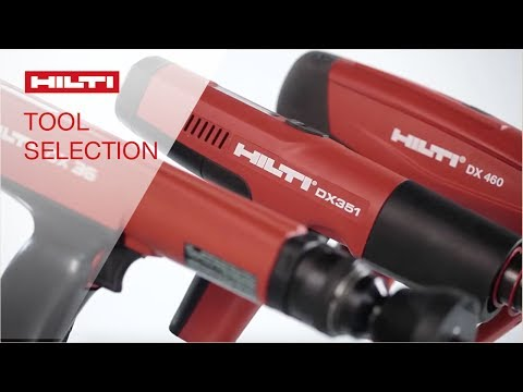 HOW TO select the right Hilti powder or gas actuated tool for your application