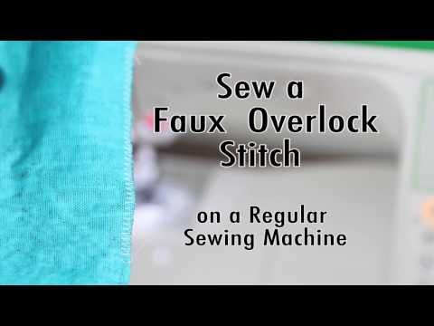 How To Do an Overlock Stitch Without a Serger - Faux Overlock