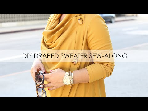 DIY Mustard Sweater Sew-Along