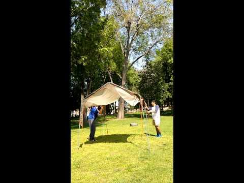REI Alcove Sunshade Setup