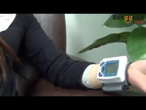 Digital Wrist Blood Pressure Monitor   Heart Beat Meter  YouTube