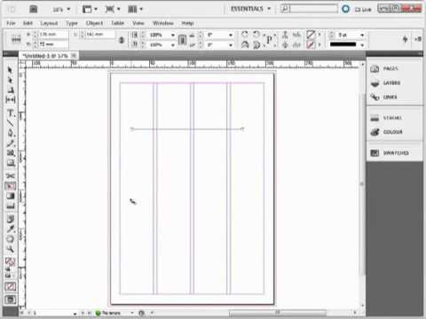 How to select tools from the Tool Panel in Adobe InDesign CS3, CS4 & CS5