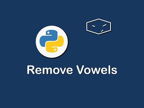 remove vowels in python