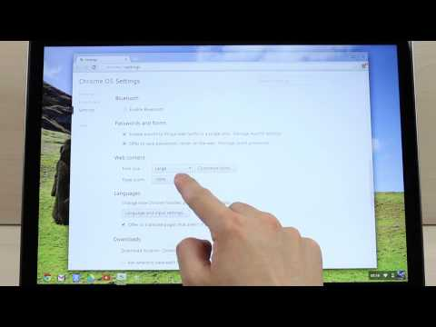 How to change your display and text size on Chromebook Pixel
