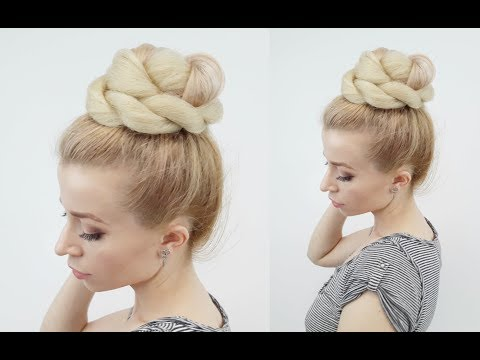 SUMMER HAIRSTYLE EASY BUN WITH KANEKALON HAIR | Awesome Hairstyles ✔