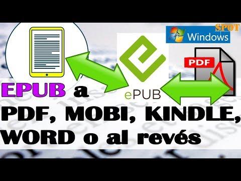 Convertir gratis EPUB a PDF, MOBI Kindle, Word o al revés