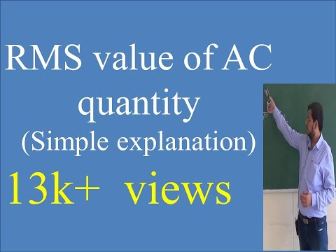Easy way to derive RMS Value of AC quantity by Prof. Irfan I. Mujawar