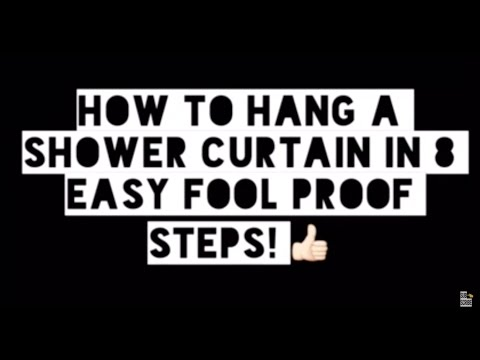 🛀🏽 How to hang a shower curtain in 8 easy steps!