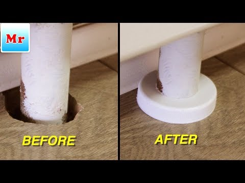 Laminate Flooring Installation: How to Make Pipe Cover for Free