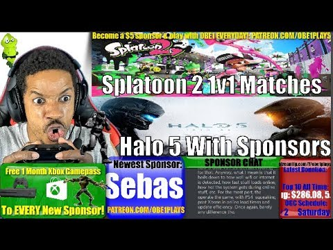 Splatoon 2 1v1 Challenges & Halo 5 With Sponsors! Nintendo Switch & Xbox One