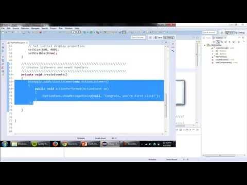 Java GUI Fundamentals- Pre-WindowBuilder Designer