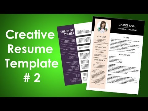 How to Create Creative Resume Design in Microsoft Word - Clean CV Template in Microsoft Word