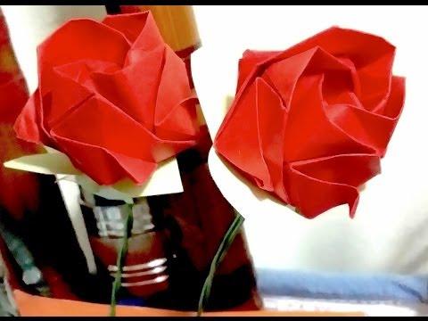 How to make Super Easy Origami Rose (Kawasaki Rose)