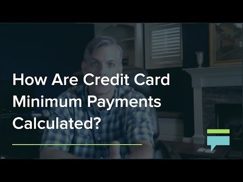 How Are Credit Card Minimum Payments Calculated? – Credit Card Insider