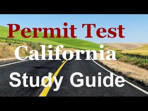 Permit test study guide California-Driver's License