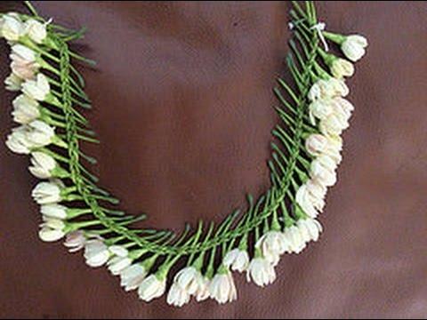 Waterfall pattern flower braid/ lei /garland. ( Gajra )