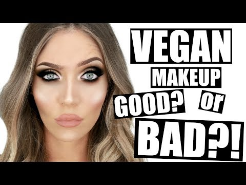 TRYING VEGAN MAKEUP!! Does It ACTUALLY Work?! | STEPHANIE LANGE