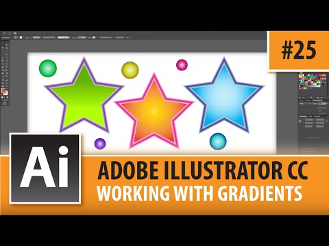 Adobe Illustrator CC 2015 - Working With Gradients - Episode #25