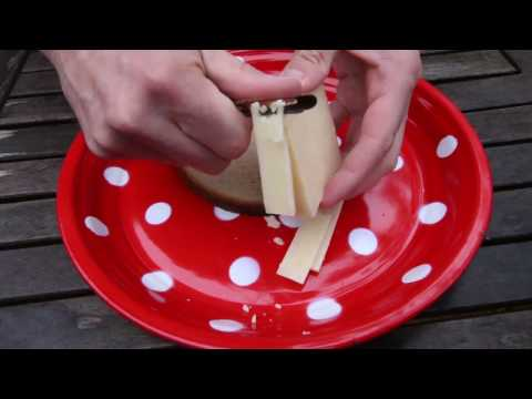 How-to Slice Cheese With A Potato Peeler Tutorial